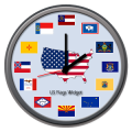 USA Flags Widget Clock