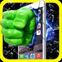Green Fist Smashing The Screen