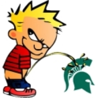 Piss On Michigan State Clock