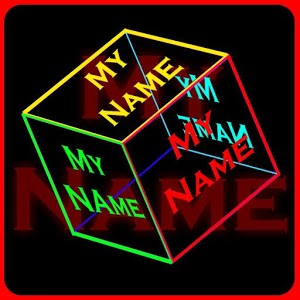 my name cube