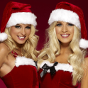 hot santa girl live wallpaper