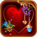 NEXT TSF LAUNCHER RED GOLD HEART VALENTINE THEME