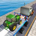 Tractor Cargo Ship Transport