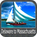 Delaware to Massachusetts GPS Map Navigator