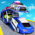 Police Car Transporter Simulator Cargo Truck Games