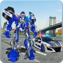 US Police Car Real Robot Transform: Robot Car Game