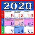 English Calendar 2020 India