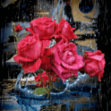 Roses Under Rain Live Wallpape