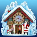 क्रिसमस हाउस घड़ी