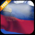 3D Liechtenstein Flag Live Wallpaper