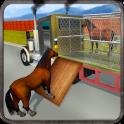 야생 말 동물원 수송 트럭