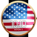 Animated USA Flag Watch Face