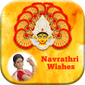 Navratri Photo Frame Wishes