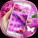 Purple rose 3D crystal theme