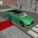 現代のリムジン市ドライバー
