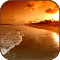 HD Beach Sunset Live Wallpaper