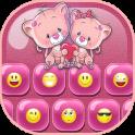 Pink Love Emoji Keyboard