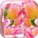 Pink flower wallpaper Theme