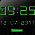 NEON GREEN Digi Clock Widget