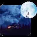 3d azul luna papel pintado