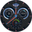 Lathom Rugged Black Android Wear Watch Face