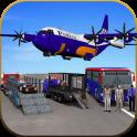 US Police Airplane Cop Dog Transporter Kids Games