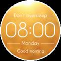 Alarm clock. Don't oversleep