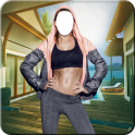 Six Pack Woman Photo Suit - body builder girl pic
