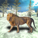 Angry Lion Winter Attack