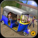 Mountain Auto Tuk Tuk driver - Offroad Rickshaw 3D
