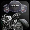 Superbike Clock Wallpaper HD