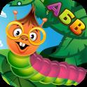 Азбука учу буквы с гусеничками