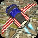 Free Flying Racing Car Driving