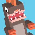 Blocky Jumping Run Avoid Shark