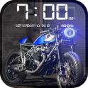 Bikes HD Clock Wallpaper