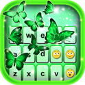 Neon Green Emoticon Keyboard
