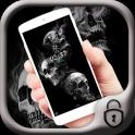 Skull theme black theme smoke