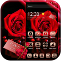 Red Rose Theme Gold Metal