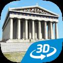 Acrópolis en 3D interactivo educativo