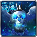 Blue Rose Skull Live Wallpaper