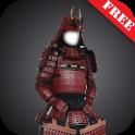 Samurai armor suit fotomontage