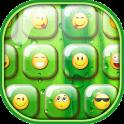 Green Emoji Keyboard Themes