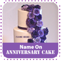 Name On Anniversary Cake