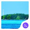 Summer sea cool round icon -APUS Launcher theme