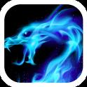 Blue Flaming Dragon Theme
