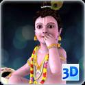 3D Little Krishna Live Wallpaper