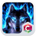 Wolf Blue Flames Theme Meizu