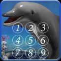 돌고래는 화면을 잠급니다.
