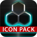 GLOW Turquoise icon pack HD 3D
