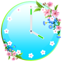 Flowers Clock Widget